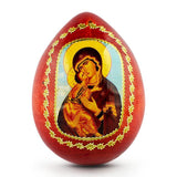 "BestPysanky Easter Eggs > Russian Eggs - 3.5"" Madonna Icon Russian Wooden Easter Egg"