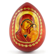"BestPysanky Easter Eggs > Russian Eggs - 3.5"" Jesus with Maria Icon Russian Wooden Easter Egg"