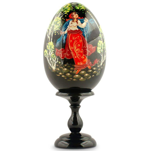 Garden Walk Hand Painted Collectible Wooden Russian Easter Egg 6.25 Inches by BestPysanky
