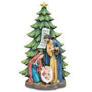 Mary, Joseph and Jesus Nativity Tabletop Christmas Tree Figurine 13 Inches by BestPysanky