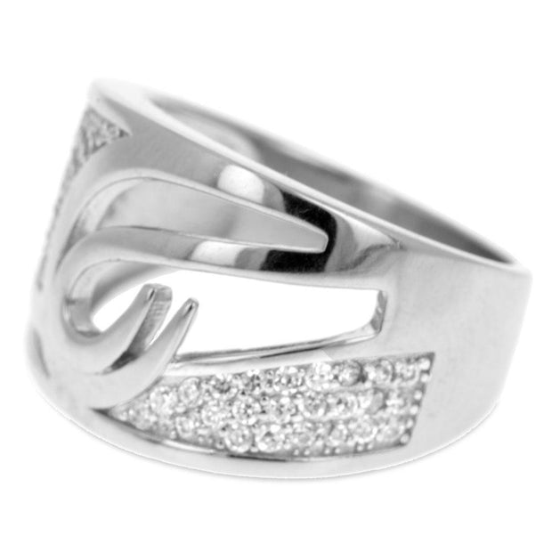 Buy Online Gift Shop CZ Collection Sterling Silver Ring (Size 7)