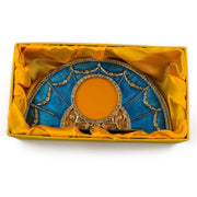 Buy Online Gift Shop Aqua Enameled Semicircular Russian Royal Picture Frame