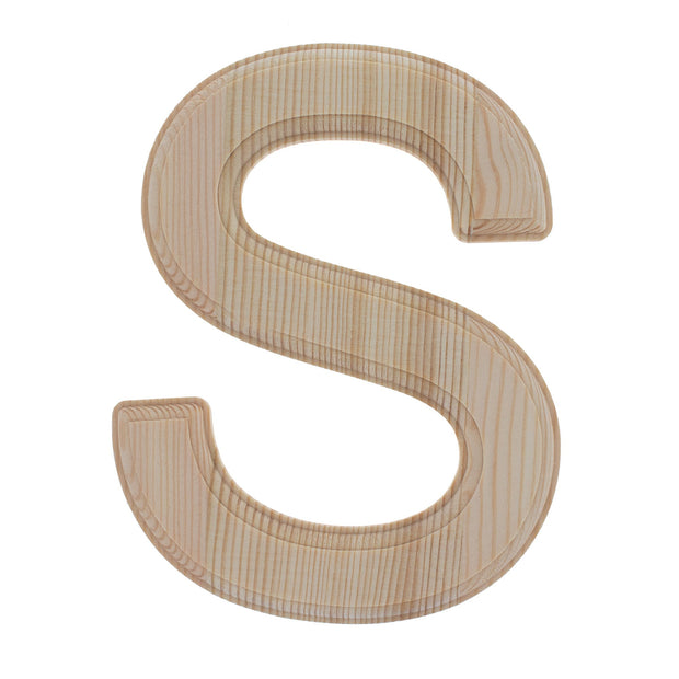 Unfinished Wooden Arial Font Letter S 6.25 Inches by BestPysanky