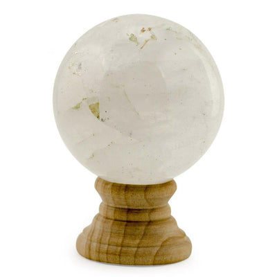 White Quartz Polished Stone Sphere by BestPysanky