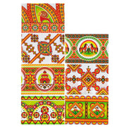 7 Geometric Style Ukrainian Easter Egg Decorating Wraps by BestPysanky