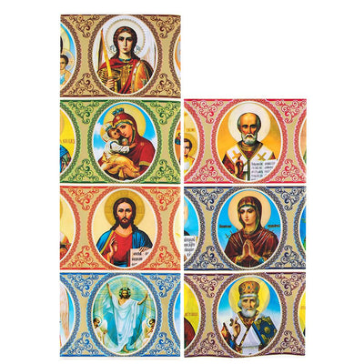 7 Icons Religious Ukrainian Easter Egg Decorating Wraps by BestPysanky