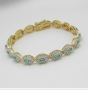 "BestPysanky Jewelry > Bracelets - 7"" Vermeil Collection Sterling Silver Bracelet"