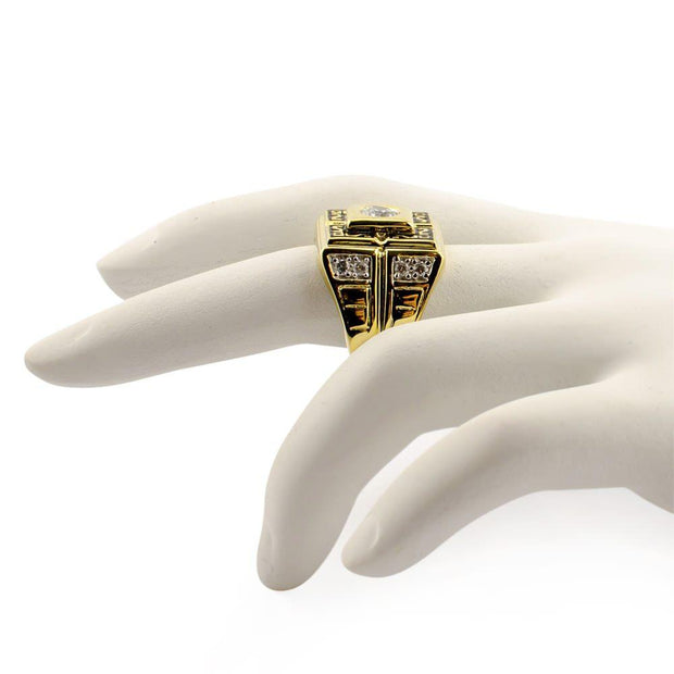 Buy Online Gift Shop Vermeil 14k Yellow Gold  Sterling Silver Men's Ring (Size 10)