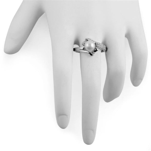Buy Online Gift Shop Fresh Water Pearl Sterling Silver Ring (Size 8)