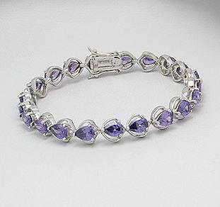 Rhodium Plated Sterling Silver Bracelet