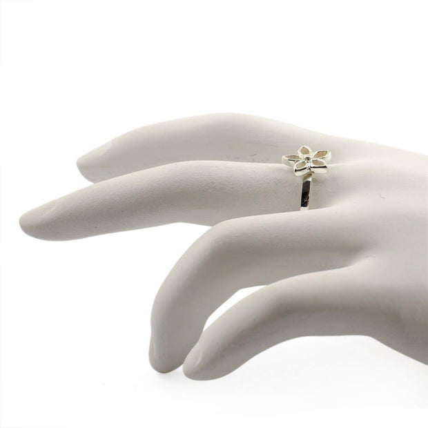Flower Sterling Silver Ring (Size 7)