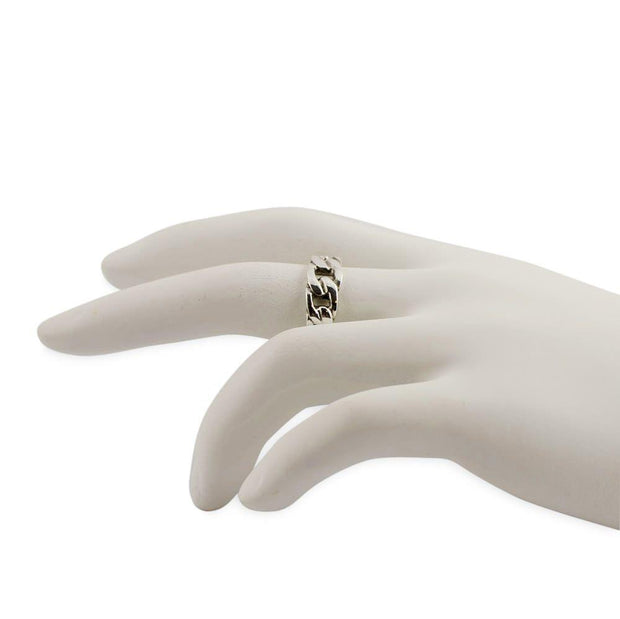 Buy Online Gift Shop Chain Design Sterling Silver Ring (Size 6)