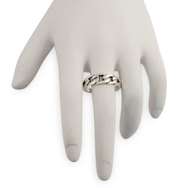 Chain Design Sterling Silver Ring (Size 8)