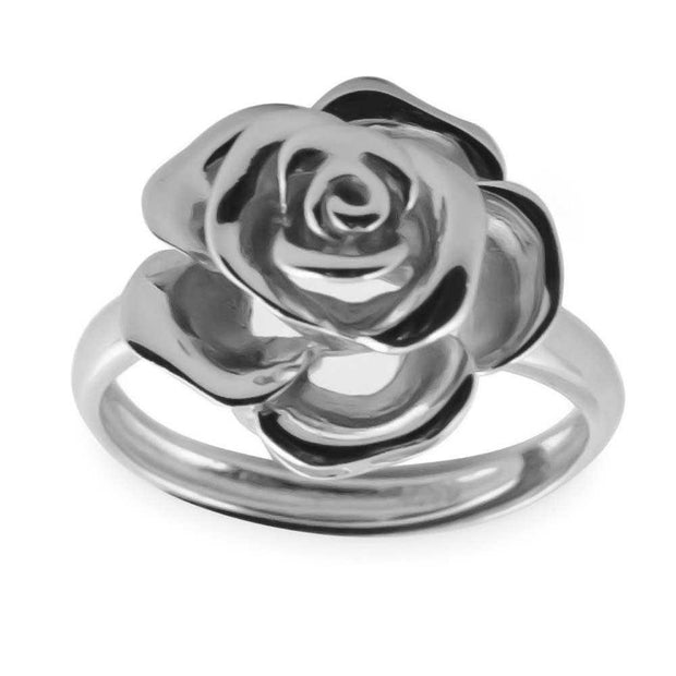 Rose Sterling Silver Ring Adjustable Size by BestPysanky