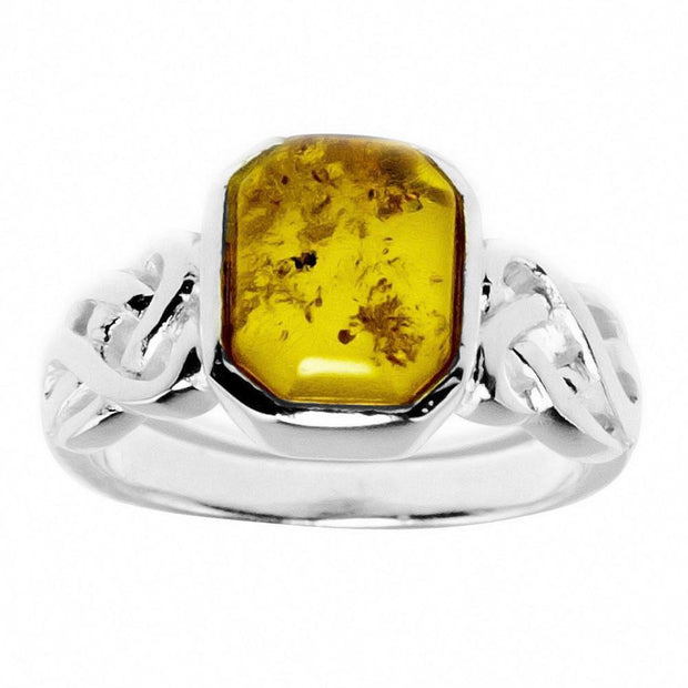 Baltic Amber Sterling Silver Ring (Size 6) by BestPysanky