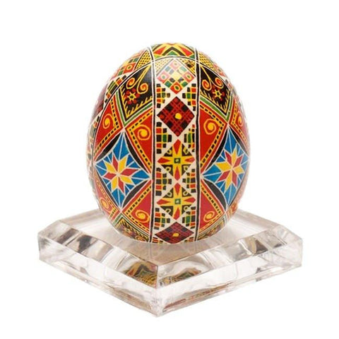"2"" Clear Square Plastic Sphere or Easter Egg Stand Holder Display 