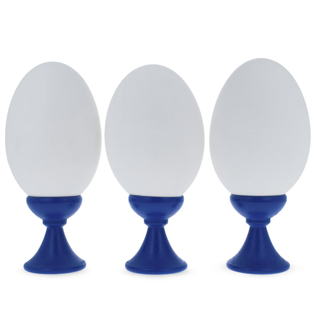 Buy Online Gift Shop Set of 3 Blue Wooden Egg Stands Holders Displays 1.4 Inches