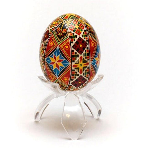 "1.5"" Tulip Tripod Clear Plastic Easter Egg Stand Display Holder 