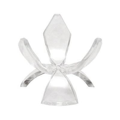 Clear Plastic Tulip Tripod Clear Egg Stand Holder 1.5 Inches by BestPysanky