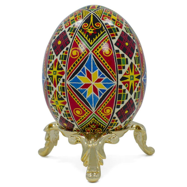"BestPysanky Egg Decorating > Stands > Metal - 2.5"" x 1"" Low Profile Gold Tone Metal Egg Stand Holder Display"
