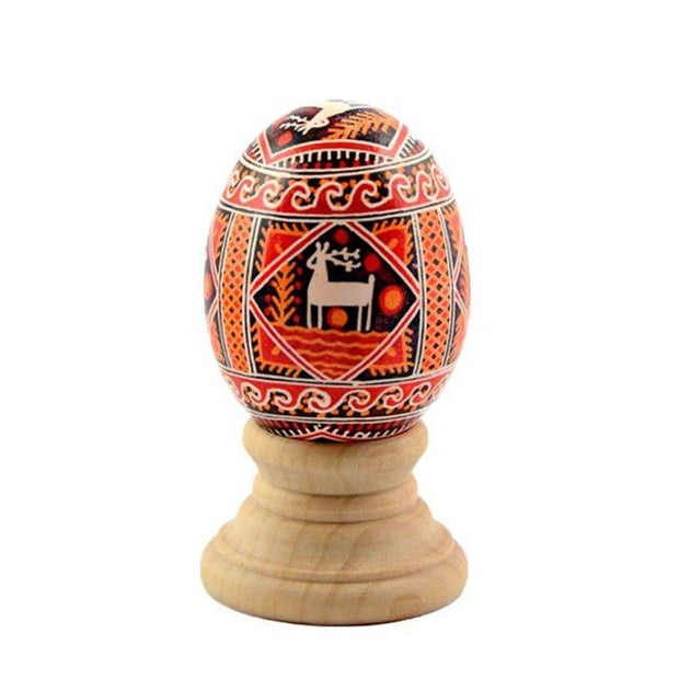 "BestPysanky Egg Decorating > Stands > Wooden - 1.15"" Blank Unpainted Wooden Easter Egg Stand Holder Display"