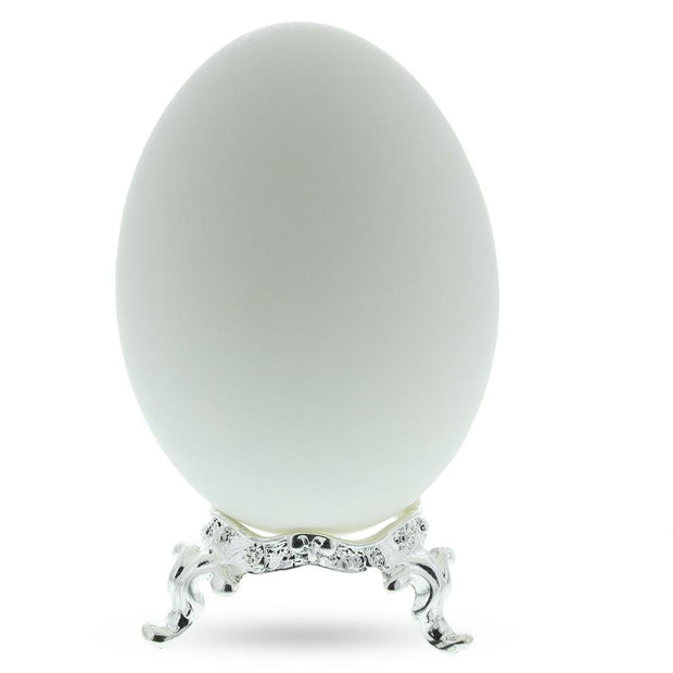 Wavy Silver Metal Egg Stand Holder