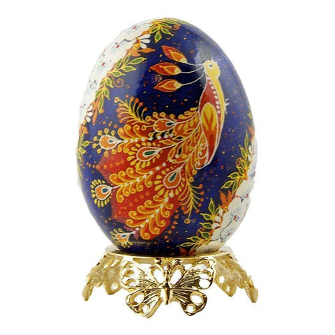 "2"" Butterfly Gold Tone Metal Egg Stand Display Holder 