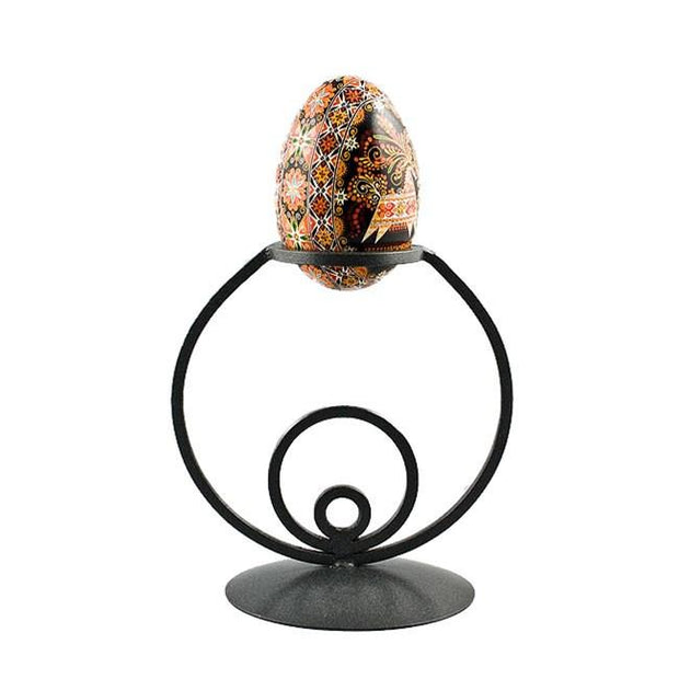 "4.5"" x 3"" Circles Wrought Iron Metal Egg Stand Holder Display 