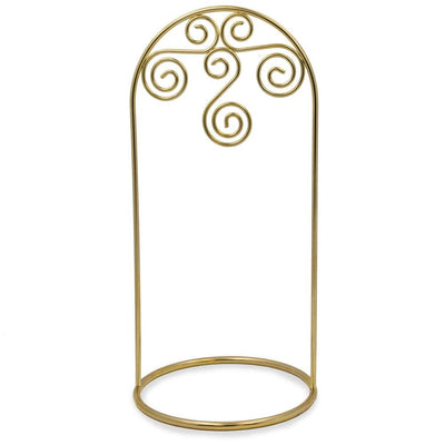 Arched Swirls Gold Tone Metal Ornament Stand 7.75 Inches by BestPysanky