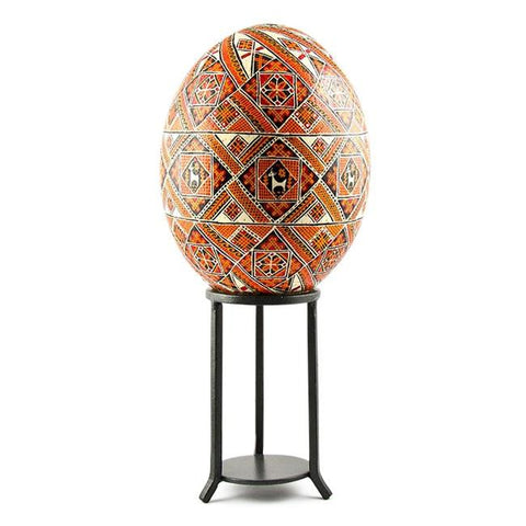 "4.5"" Tall Wrought Iron Large Egg or Sphere Stand Display Holder 