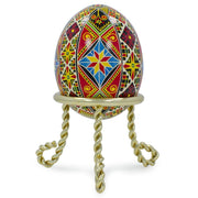 "BestPysanky Egg Decorating > Stands > Metal - 1.5"" Scrolled Legs Gold Tone Metal Egg Stand Holder Display"