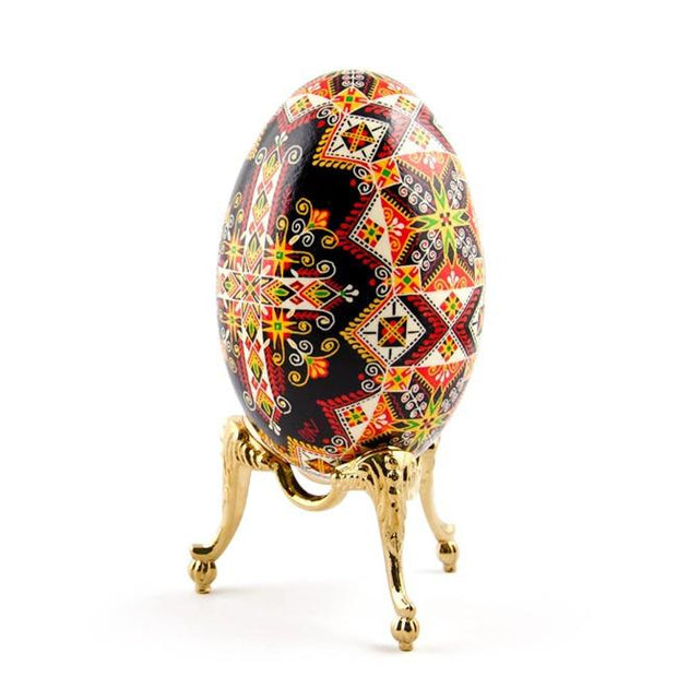 "BestPysanky Egg Decorating > Stands > Metal - 1.65"" Antique Style Gold Tone Metal Egg Stand Display Holder"