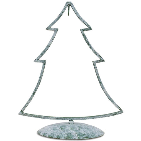"12"" Green Tone Iron Metal Christmas Tree Ornament Stand 