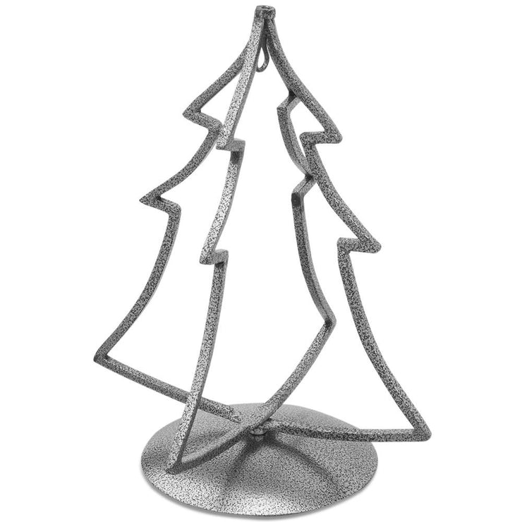 Black Tone Iron Metal 3D Christmas Tree Metal Ornament Stand 12 Inches by BestPysanky