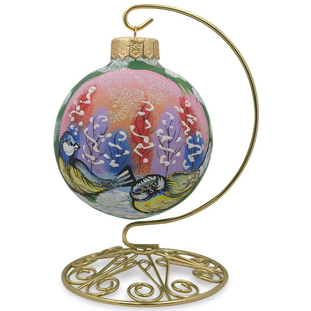 "BestPysanky Egg Decorating > Stands > Ornament Stands - 6.5"" Brass Hook Metal Holder Ornament Stand"