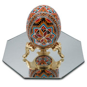 "BestPysanky Egg Decorating > Stands > Ornament Stands - 4"" Octagon Shaped Mirror"