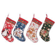 4 Polar Bears, Rudolph, Penguins and Gingerbread Man Christmas Stockings 18 Inch by BestPysanky