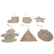 Set of 12 DIY Unfinished Wood Picture Frame Christmas Ornaments