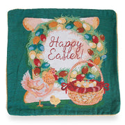 Set of 2 Happy Easter & Easter Eggs Throw Cushion Pillow Covers