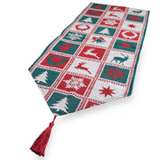 Square Patterns Christmas Table Runner 75 Inches