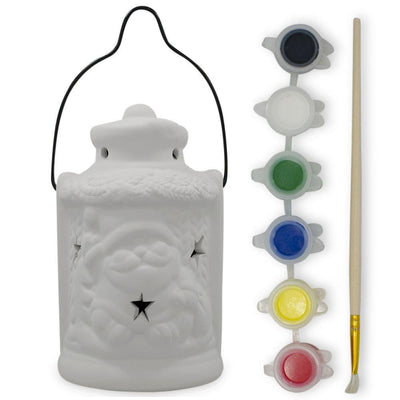 Paint your Own Santa's Lantern with LED Light- DIY Craft Kit by BestPysanky