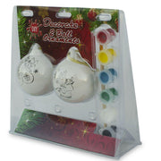Buy Online Gift Shop Set of 2 Unfinished Paint your Own Santa Christmas Ornaments DIY Craft Kit