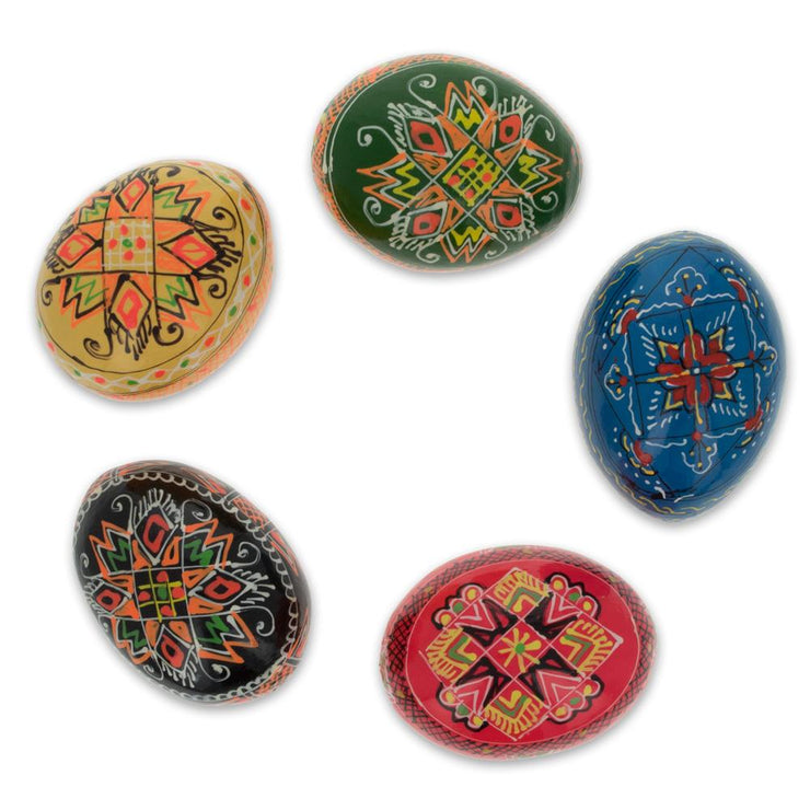 Buy Online Gift Shop Set of 5 Ukrainian Wooden Easter Eggs