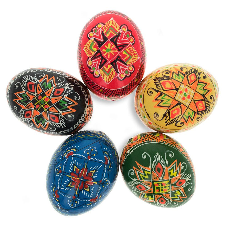 Set of 5 Ukrainian Wooden Easter Eggs by BestPysanky