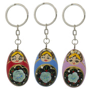 Set of 3 Metal Russian Nesting Dolls Key Chains by BestPysanky