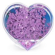 NYC New York Heart Shaped Water Globe Picture Frame 3.5 Inches