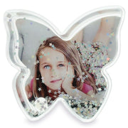 Butterfly Shaped Glitter Clear Acrylic Plastic Water Globe Picture Frame by BestPysanky