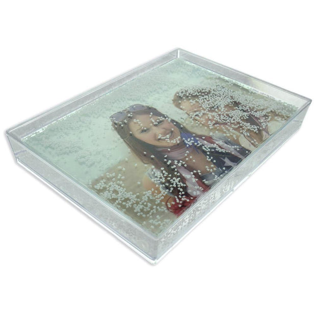 Rectangular Clear Acrylic Plastic Water Globe Picture Frame