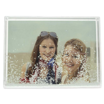 Snow Water Globe Picture Frame 5.4 Inches x 7.4 Inches by BestPysanky