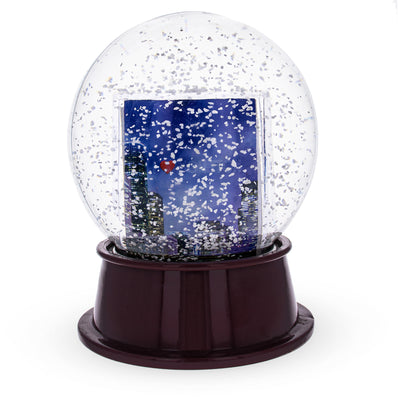 Houston Clear Plastic Snow Water Globe Picture Frame by BestPysanky